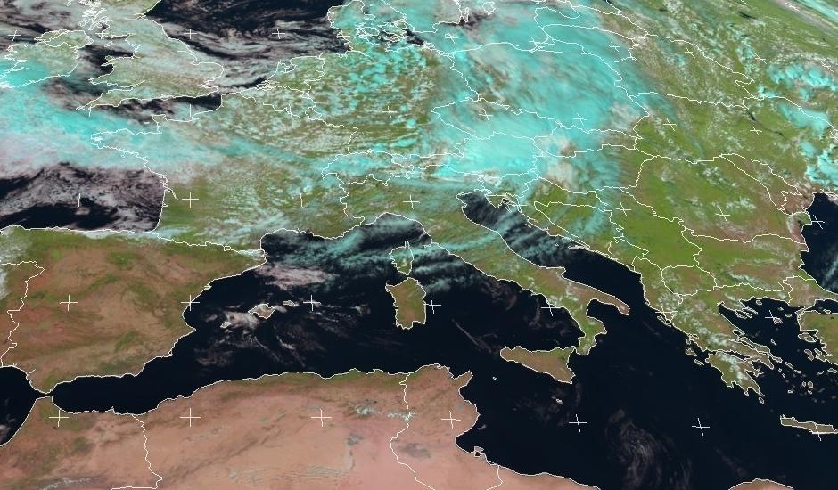 Satelitska mapa oblaka Jahorina